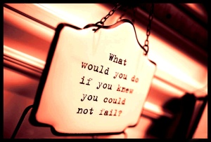 What Would You Do If you Knew You Could Not Fail Sign