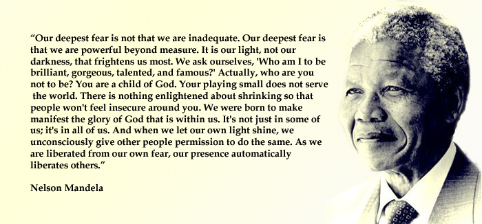 our deepest fear nelson mandela quote eclectic emily