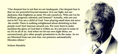 Our Deepest Fear Nelson Mandela Quote Emily Romrell
