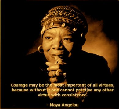 Courage may be the most important of all virtues, because without it one cannot practive any other virtue with consistance.