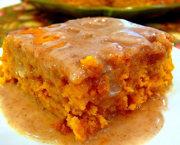 Pumpkin Cake Apple Cider Glaze