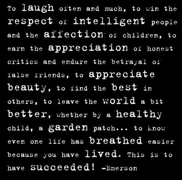 Famous Quotes Emerson: Success Defined By Ralph Waldo Emerson