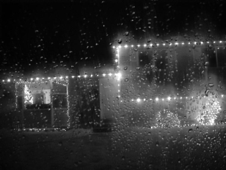 Black & White Rainy Lights